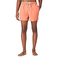 Red Herring - Orange worn effect swim shorts