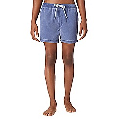Red Herring - Navy worn effect swim shorts