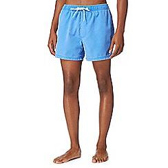 Red Herring - Bright blue worn effect swim shorts