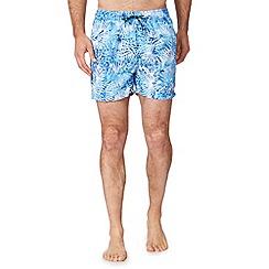 Red Herring - Big and tall blue palm leaf swim shorts