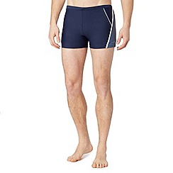 J by Jasper Conran - Big and tall designer navy contrast panel trunks