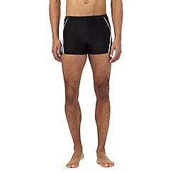 J by Jasper Conran - Big and tall designer black contrast panel trunks