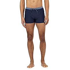 J by Jasper Conran - Big and tall designer navy zip pocket trunks