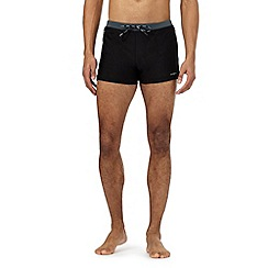 J by Jasper Conran - Big and tall designer black zip pocket trunks