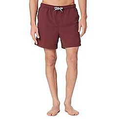 Maine New England - Dark red basic swim shorts