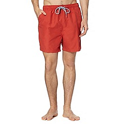 Maine New England - Dark orange plain swim shorts