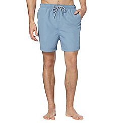Maine New England - Big and tall light blue plain swim shorts