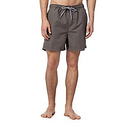 Maine New England - Dark grey plain swim shorts