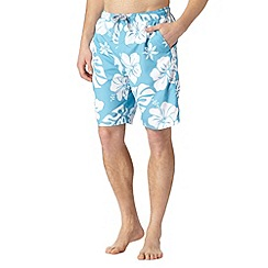 Maine New England - Blue all over floral swim shorts