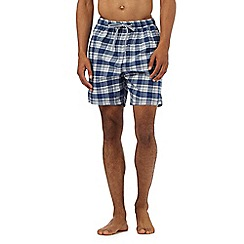 Maine New England - Blue gingham seersucker swim shorts