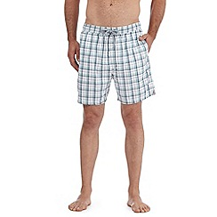 Maine New England - White gingham seersucker swim shorts