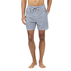 Maine New England - Big and tall navy gingham checked swim shorts