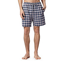 Maine New England - Big and tall navy gingham seersucker swim shorts