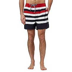 Maine New England - Red multi striped swim shorts
