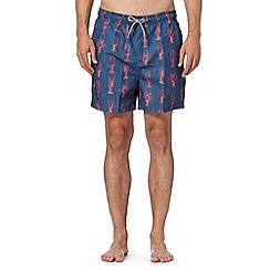 Maine New England - Big and tall navy lobster print swim shorts