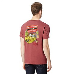 Weird Fish - Big and tall dark red 'Only Moules and Seahorses' t-shirt