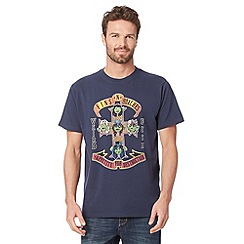 Weird Fish - Big and tall navy 'Fins and Roaches' crew neck t-shirt