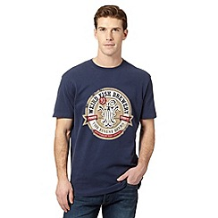 Weird Fish - Big and tall navy brewery logo print t-shirt