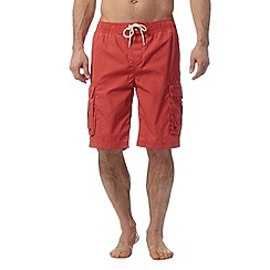 Weird Fish - Red cargo swim shorts