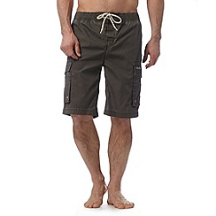 Weird Fish - Dark grey cargo swim shorts