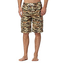 Weird Fish - Natural camo swim shorts