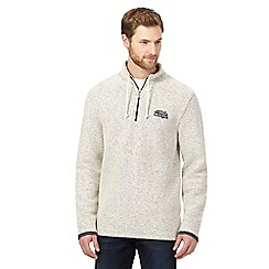 Weird Fish - Natural Macaroni zip neck sweatshirt