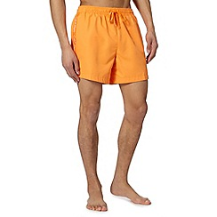Calvin Klein - Orange logo tape swim shorts
