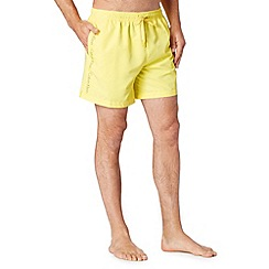 Calvin Klein - Yellow logo swim shorts