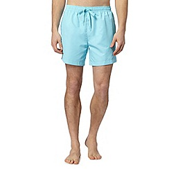 Calvin Klein - Aqua logo tape side mid swim shorts