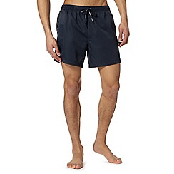 Calvin Klein - Navy tape side swim shorts