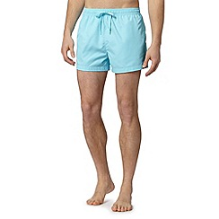 Calvin Klein - Aqua logo tape side swim shorts