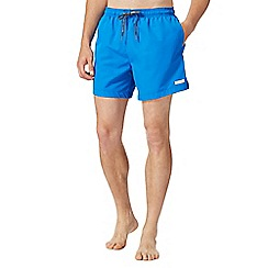 Calvin Klein - Bright blue logo swim shorts