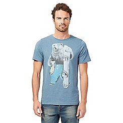 Animal - Blue bear print t-shirt