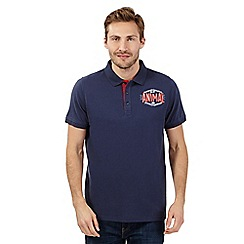 Animal - Navy applique logo polo shirt