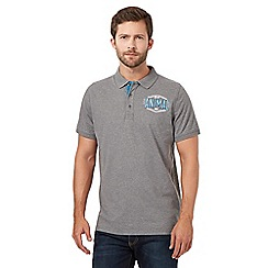 Animal - Grey applique logo polo shirt