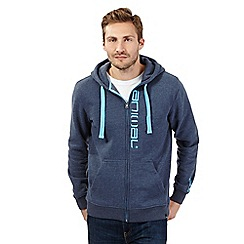 Animal - Navy zipped logo hoodie