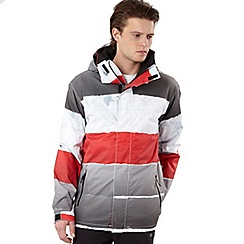 Quiksilver - Red Last Mission stripe print jacket