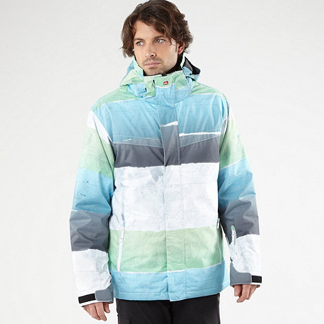 Quiksilver - Green printed map ski jacket