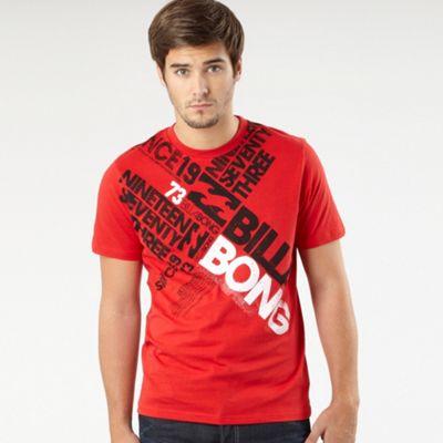 Red bold logo t-shirt