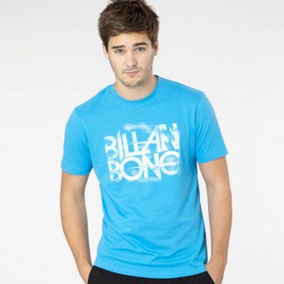 Bright blue faded logo t-shirt