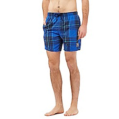 Speedo - Bright blue checked swim shorts