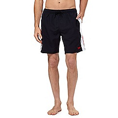 Speedo - Navy logo yoke swim shorts