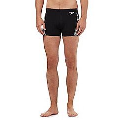 Speedo - Black monogram swim shorts