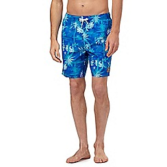 Speedo - Blue palm tree print swim shorts