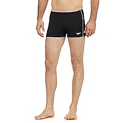 Speedo - Black 'Endurance+' logo swim shorts