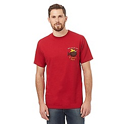 Weird Fish - Big and tall red 'Fishmas Pud' t-shirt