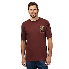Weird Fish - Big and tall dark red 'Jim Bream' crew neck t-shirt