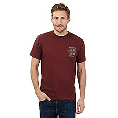 Weird Fish - Big and tall maroon 'Shellfie' t-shirt