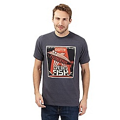 Weird Fish - Big and tall navy 'Motherfish' crew neck t-shirt