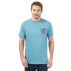 Weird Fish - Big and tall light blue 'aerofish' crew neck t-shirt